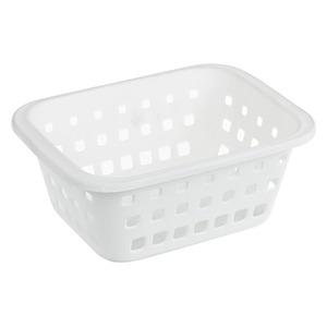 Cesto Organizador Plástico 1,4L Branco sem Tampa 8,30x14,80x20,30cm Log Ordene