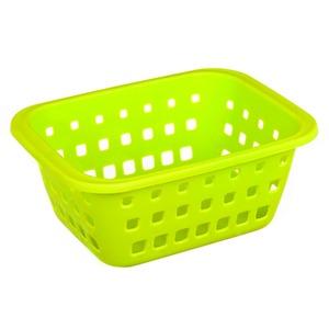 Cesto Organizador Plástico 1,4L Verde sem Tampa 8,30x14,80x20,30cm Log Ordene