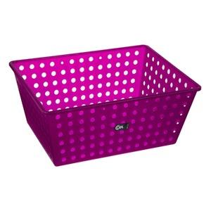 Cesto Organizador Plástico 13L Roxo sem Tampa 16,50x29,30x38cm Organize Brinox
