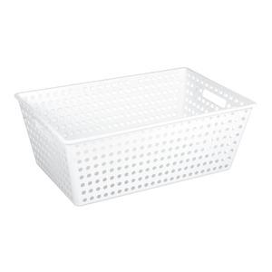 Cesto Organizador Plástico 38L Branco sem Tampa 22x38x60cm Organize Brinox