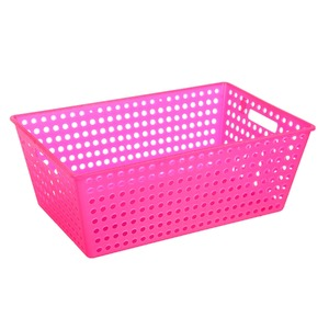 Cesto Organizador Plástico 38L Rosa sem Tampa 22x38x60cm Organize Brinox
