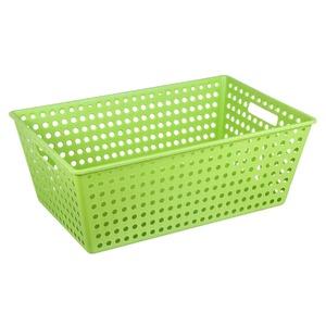 Cesto Organizador Plástico 38L Verde sem Tampa 22x38x60cm Organize Brinox