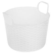 Cesto Organizador Plástico 3L Branco sem Tampa 16,50x19,50x19,50cm Organização Arthi