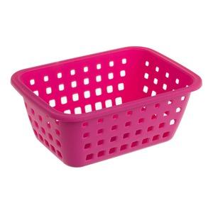 Cesto Organizador Plástico 3L Rosa sem Tampa 10,30x18,20x26cm Radical Pink Ordene