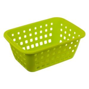 Cesto Organizador Plástico 3L Verde sem Tampa 10,30x18,20x26cm Log Ordene