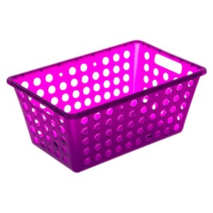 Cesto Organizador Plástico 4,8L Roxo sem Tampa 12x19x28,70cm Organize Brinox