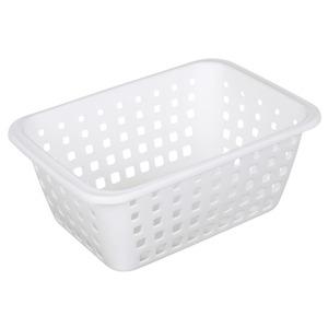 Cesto Organizador Plástico 5,2L Branco sem Tampa 12,50x21,40x31cm Log Ordene
