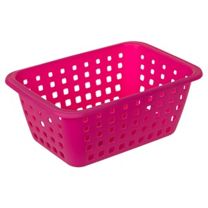 Cesto Organizador Plástico 5,2L Rosa sem Tampa 12,50x21,40x31cm Radical Pink Ordene