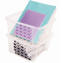 Cesto Organizador Plástico 6,3L Incolor sem Tampa 13,70x25,40x27cm Casar Fit Sanremo