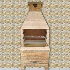 Churrasqueira de concreto rev filete varanda 65 cm Joroca