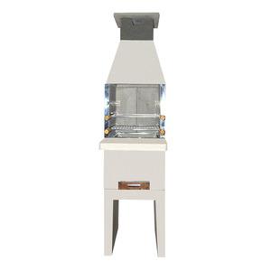Churrasqueira Concreto Refratário Mini Baby 50cm com Mesa Frontal 15 peças Atacadão Lazer