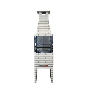 Churrasqueira Concreto Refratário Estilo 55cm Areia 20 peças Atacadão Lazer