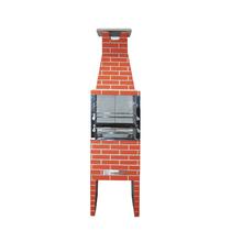 Churrasqueira Concreto Refratário Estilo 55cm Cerâmica 20 peças Atacadão Lazer