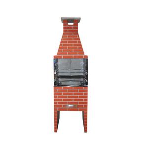 Churrasqueira Concreto Refratário Estilo 65cm Cerâmica 20 peças Atacadão Lazer