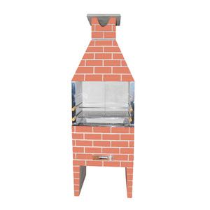 Churrasqueira Concreto Refratário Estilo 74cm Cerâmica 17 peças Atacadão Lazer