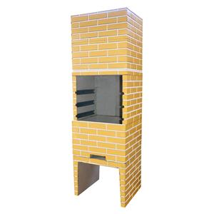 Churrasqueira Concreto Pré-Moldado Tijolinho Predial Amarela 65cmx2,05m Fortal