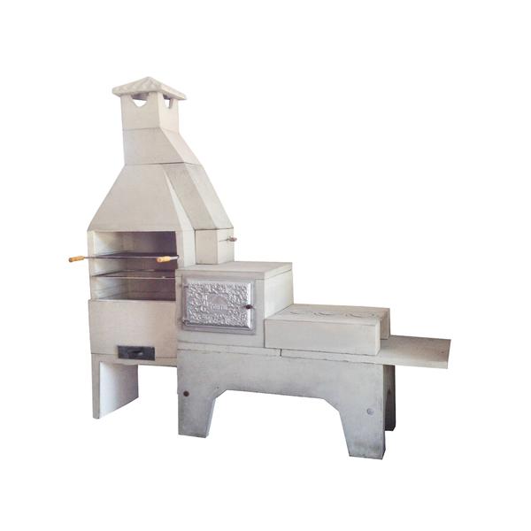 Churrasqueira de concreto refrat rio com forno e fog o 3 for Forno leroy merlin