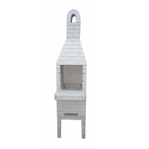 Churrasqueira de Concreto Refratário Tijolinho Mini Crua 45cm Fortal