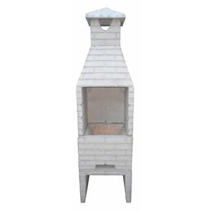 Churrasqueira de Concreto Refratário Tijolinho Pequena Crua 55cm Fortal