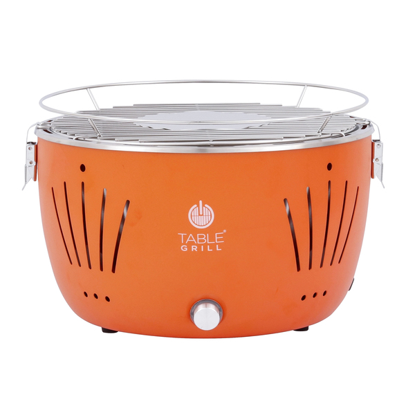 Churrasqueira De Mesa A Carvão Laranja Table Grill Leroy Merlin