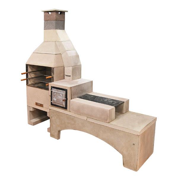 Churrasqueira concreto refrat rio master 90cm com forno e for Forno leroy merlin