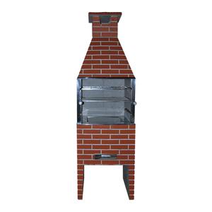 Churrasqueira Pré-Moldada Concreto Refratário Tijolinho com Pintura Grande 75cm Concrex