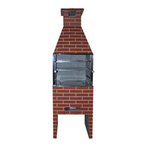 Churrasqueira Pré-Moldada Concreto Refratário Tijolinho com Pintura Média 65cm Concrex