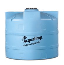 Cisterna de Polietileno Equipada 2800L 110V 1,58x1,81m Acqualimp