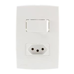 Conjunto de Interruptor Simples Branco Lille Lexman