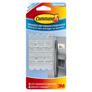 Clip para Fotos Command Transparente 6 Unidades 3M