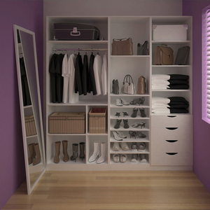 closet completo branco 222cm toulon spaceo leroy merlin. Black Bedroom Furniture Sets. Home Design Ideas