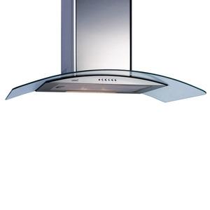 Coifa de parede em aço Inox C2000 C Glass 127V Lamp Incand 2X40W
