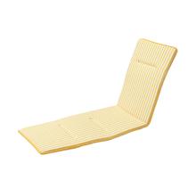 Colchão Espreguiçadeira Poliéster Stripes Amarelo 190x55cm
