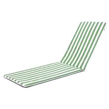 Colchão Espreguiçadeira PVC Listrada Verde 177x57cm