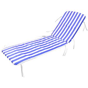 Colchão para Espreguiçadeira Pvc Bagum Chaise 105x54cm Listrada Azul Combinata