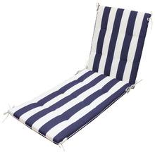 Colchão para Espreguiçadeira Tecido Hidrorepelente Futton 190x62cm Listrada Azul e Branco Artgarden
