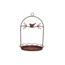 Comedor para Pássaros Ferro 34cm Marrom