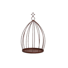 Comedor para Pássaros Ferro 36cm Marrom