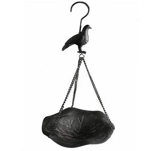 Comedor para Pássaros Aço 39,50x18,50x18,50cm Cinza