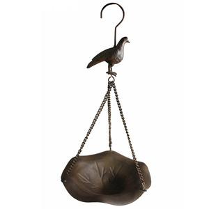 Comedor para Pássaros Aço 39,50x18,50x18,50cm Marrom