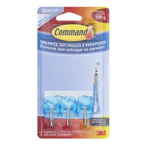 Command Utensílios Transparente Azul