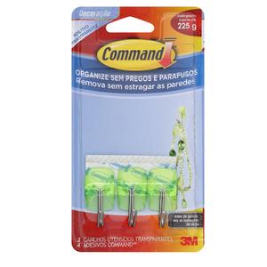 Command Utensílios Transparente Verde