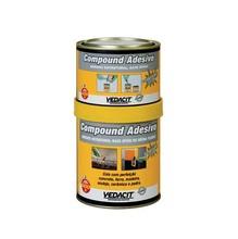 COMPOUND ADESIVO COMPON A BIANCO DENS 1,52 G/CM3 RESINA EPOXI COMPON B PRETO COMPO BASICA POLIAM AMIDA ESTRUTURAL KIT LATA 1KG 600/400G
