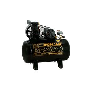 Compressor de ar Ar Csl 10 Br/100L Bravo 140psi 10,00 Pcm Motor 2 2Hp Monofásico 110/220V 860 82,70 Decibeis 100L 520ML Schulz