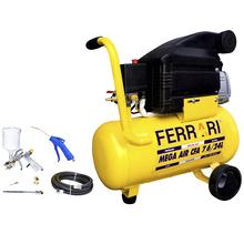 Compressor de Ar Mega Air CFA 7.6/24L com Kit 6 peças Ferrari