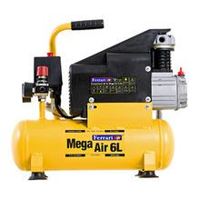 Compressor Mega Air CFA 5.5/6L Bivolt com Acessórios Ferrari