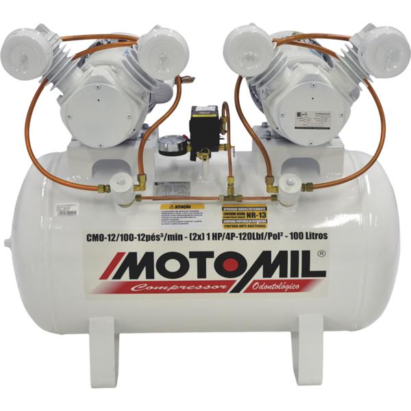 a49e5de13f42e Compressor Odontológico CMO-12 100 2X1HP 127 220V Motomil   Leroy Merlin