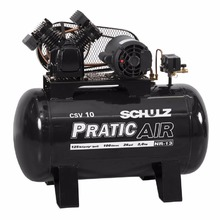 Compressor Pratic Air 10/100L 220/380V Trifásico Schulz