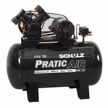 Compressor Pratic Air 10/100L 220/380V Trifásico Schulz