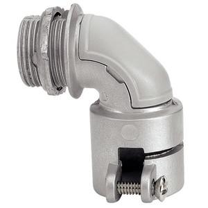 Conector Curvo Alumínio com Rosca Diâmetro 3/4 Polegada Comprimento Total 68 mm
